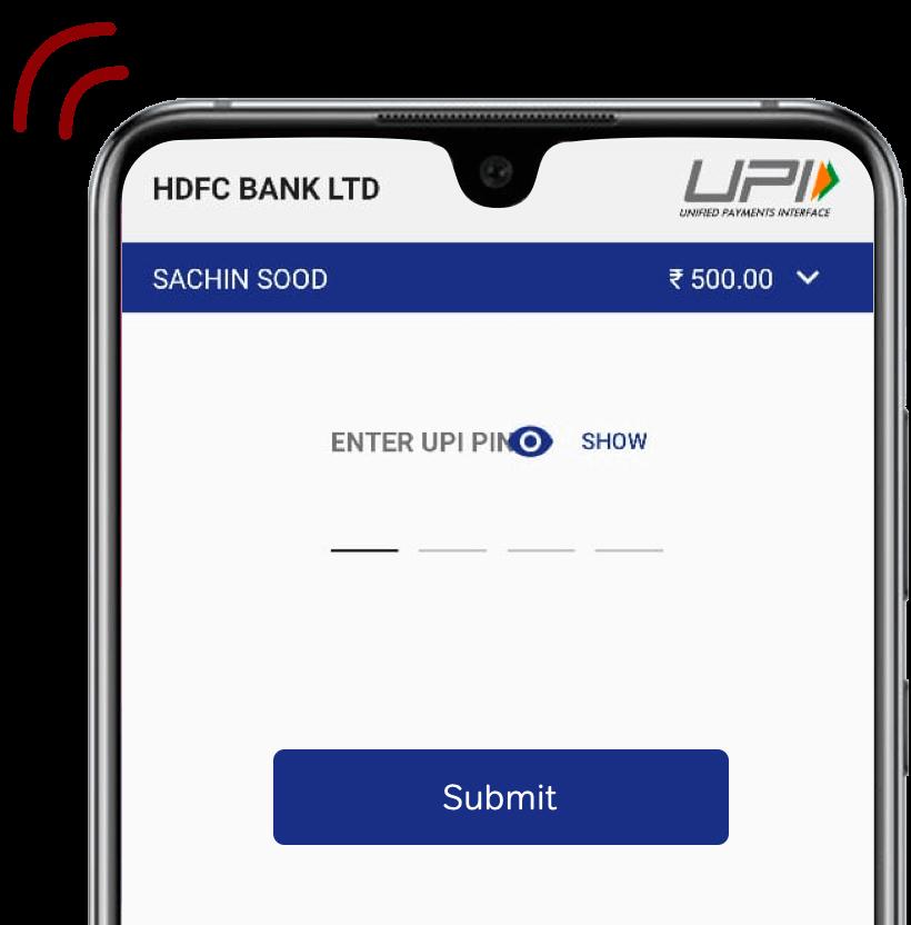 Initiate Net banking or UPI